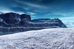 Horizontal froid de neige de glace Photographie stock libre de droits