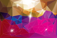Horizontal futuristic vector background pink Royalty Free Stock Image