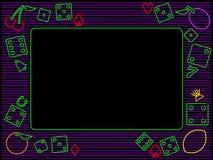 Horizontal gambling frame vector illustration