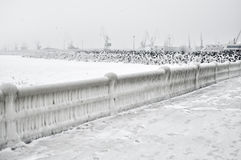 Horizontal gelé de frontière de sécurité Images libres de droits