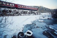 Horizontal gelé de l'hiver Photographie stock libre de droits