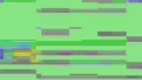 Glitch TV Screen. Desaturated green background. Horizontal Glitch on a TV Screen. Desaturated green background stock footage