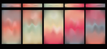 Horizontal glowing gradient buttons Stock Image