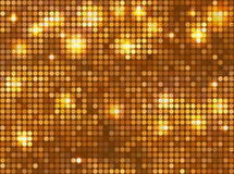 Horizontal gold mosaic Stock Photo
