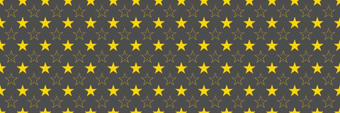 horizontal gold stars for pattern and background,vector illustra Royalty Free Stock Photography