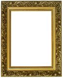 Horizontal golden frame stock photography