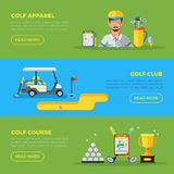Horizontal Golf Banners Stock Image