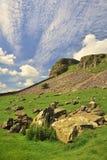 Horizontal géologique, vallées de Yorkshire Photo stock
