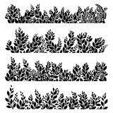 Horizontal grass silhouettes. EPS 10 Royalty Free Stock Photography