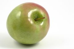 Horizontal green apple Stock Photo