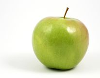 Horizontal green apple on white Stock Image