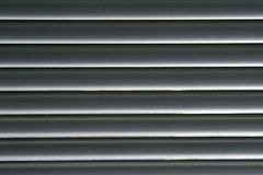 Horizontal Grey Lines - Venetian Blinds Stock Photo