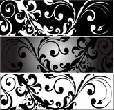 Horizontal Greyscale Arabesques Royalty Free Stock Photography