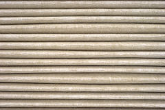 Horizontal grooves on used air filter Stock Photography