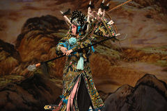 "Horizontal gun- Beijing Opera"" Women Generals of Yang Family"" Royalty Free Stock Image"