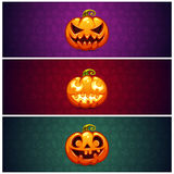 Horizontal Halloween Banners Background with Royalty Free Stock Photos
