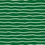 Horizontal hand drawn organic doodle lines on green background. Seamless vector pattern. Perfect for stationery royalty free illustration