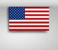 Horizontal hanging US flag Stock Image