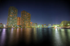 Horizontal HDR de nuit à Tokyo Photo stock