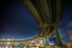 Horizontal HDR de nuit de Tokyo Images libres de droits