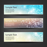 Horizontal Header, Banner Set for Christmas, New Year or Other Holidays, Cover or Background Designs - Colors: Brown, Blue, White Stock Photography