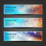 Horizontal Header, Banner Set for Christmas, New Year or Other Holidays, Cover or Background Designs - Colors: Brown, Blue, White Royalty Free Stock Photography
