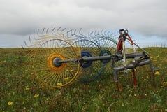 Horizontal Hebridean de machair avec le herse-type machi Image libre de droits