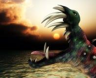 Horizontal horrible de monstre de Veille de la toussaint Image stock