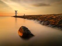 Horizontal idyllique d'été Photo stock