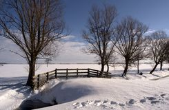 Horizontal II de l'hiver Image stock