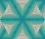 Abstract background with geometric kaleidoscopic design obtained from ocean, sand at waves on a tropical seashore in the Caribbean. Horizontal illustration Royalty Free Stock Photos