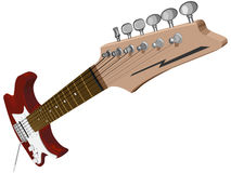 Horizontal illustration with red electric guitar. Stock Images