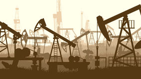 Horizontal illustration with units for oil industry. Royalty Free Stock Image