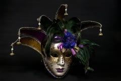 Colorful mask on a black background. Horizontal image of a Colorful mask on a black background royalty free stock photo