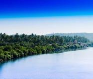 Horizontal Indian jungle beach landscape Stock Image