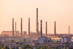 Horizontal industriel Usine en acier Industrie lourde en Europe Photographie stock