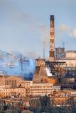 Horizontal industriel Usine en acier Industrie lourde en Europe Images stock