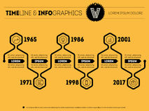 Horizontal Infographic timeline. Vector web template for present Royalty Free Stock Photos