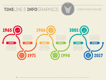 Horizontal Infographic timelines. Vector web template for presen Stock Photography