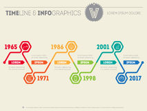 Horizontal Infographic timelines. Vector web template for presen Stock Image