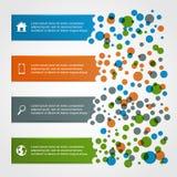 Horizontal infographics with circles Stock Photo