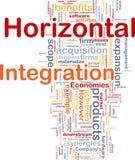 Horizontal integration background concept. Background concept wordcloud illustration of business horizontal integration Royalty Free Stock Photos