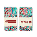 Horizontal invitation card for holiday 2016 Royalty Free Stock Photos