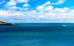 Horizontal irlandais liège atlantique du comté de côte de littoral, Irlande Image libre de droits