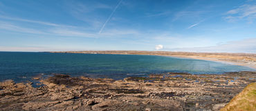 Horizontal irlandais panoramique scénique de plage Image libre de droits