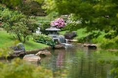 Horizontal japonais de jardin Images libres de droits