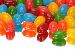 Horizontal Jelly Beans. Reflection of jelly beans horizontally Stock Images