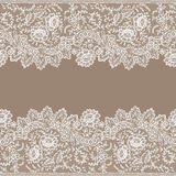 Horizontal Lace Seamless Pattern. Royalty Free Stock Image