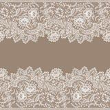Horizontal Lace Seamless Pattern. Royalty Free Stock Image