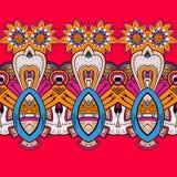 Horizontal lace steampunk ornament, ornamental geometric pattern Royalty Free Stock Image